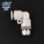 High quality standard plastic pneumatic fittings with metal parts
