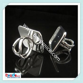 beadsnice ID 3267 finger ring settings size:fits 24mm square jewelry parts and accessories jewelry ring findings
