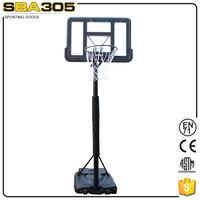 solid pc backboard basketbal stand with breakaway rim