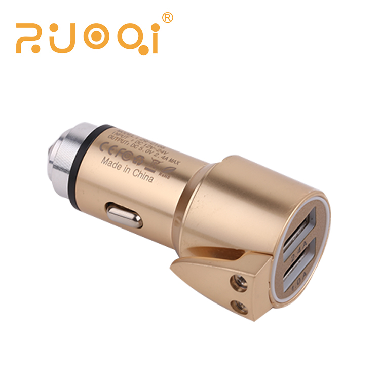 OEM Cell phone 5V 2.4A dual usb car charger adapter for electric car