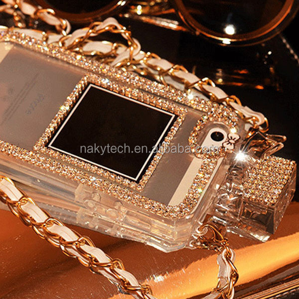 Luxury diamond Rhinestone Perfume Bottle Case for iPhone 6 / 6 plus/ 4 4S 5 5S for Samsung S4 Note 2/3 Mobile phone covers