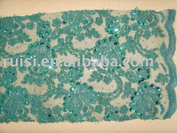 Jacquard lace with cords and beads (SAY047 )
