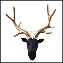 Christmas Resin Deer Antler Wall Decoration Images With Black White Color For home decoration and hotel project