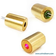 635nm 3mw 3V D10.5mm Red Diode Laser Module, Fixed Focus Glass Lens Red Laser Module for Pointer, Sensor