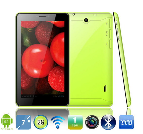 2014 new hot 7 inch Allwinner A13 Android tablet 2G phone calling with Bluetooth