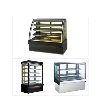 Curve glass bakery display showcase cake refrigerator