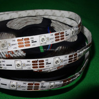 addressable 5m 30LEDs/m DC5V SK6812 led pixel strip,waterproof in silicon tube,with 30pixels/M;WHITE PCB