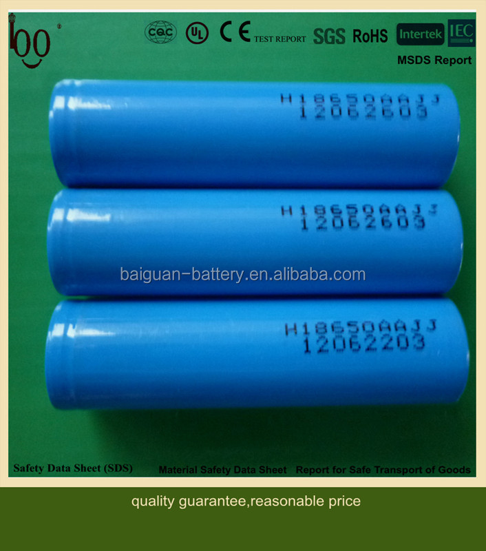 Factory Price ICR18650 3.7V Cylindrical rechargeable lithium ion battery cell 18650