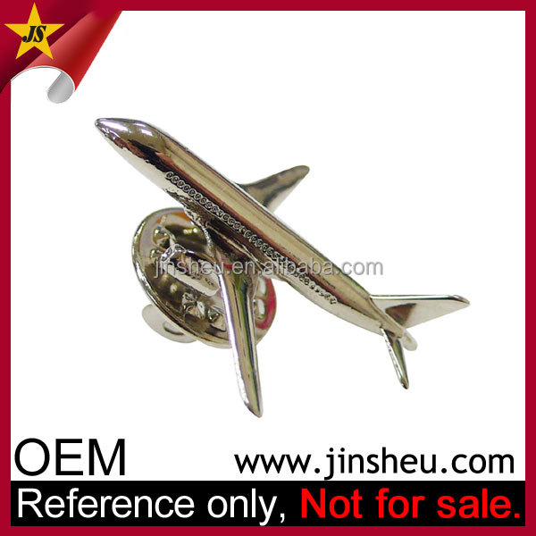 china wholesale custom 3D aircraft metal airplane pin