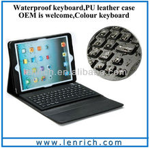 LBK161 Folio Silicon Bluetooth Keyboard Case For iPad air Ultra Slim
