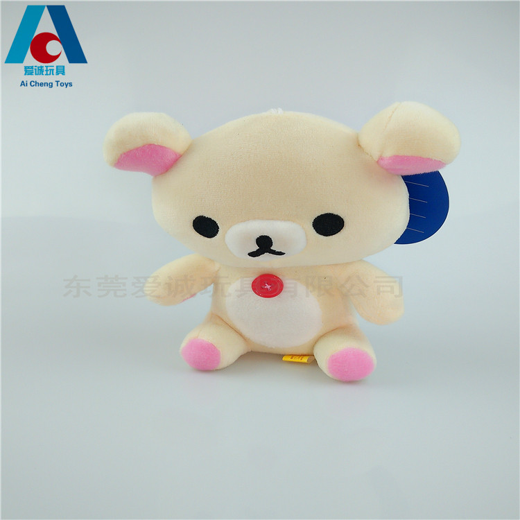 stuffed cute teddy bear pendant toy kids festival animal products EN71 passing plush toy