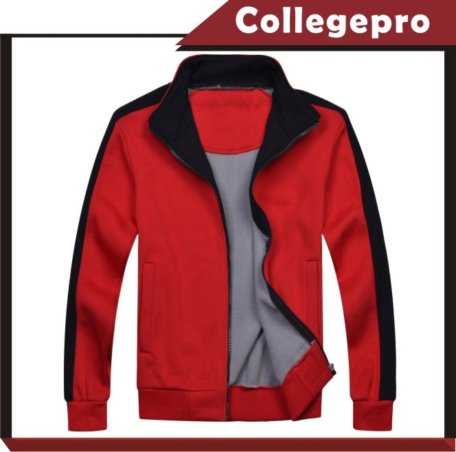 wholesale high quality cotton zipper up hoodies and sweatshirts