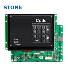 8 inch pcb board usb sd card led backlight TFT LCD Monitor controlled by microcontoller through UART port