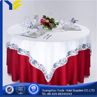 Satin Fabric new design round hot selling thick vinyl table cloths