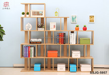 wooden modern bookcase,bookshelf, bookcase with study table,desk bookcase combination for children