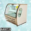 Deli case/supermarket refrigerator showcase/curved glass serve over cooler
