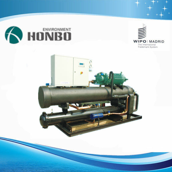semi-hermetic screw compressor chiller water cooled
