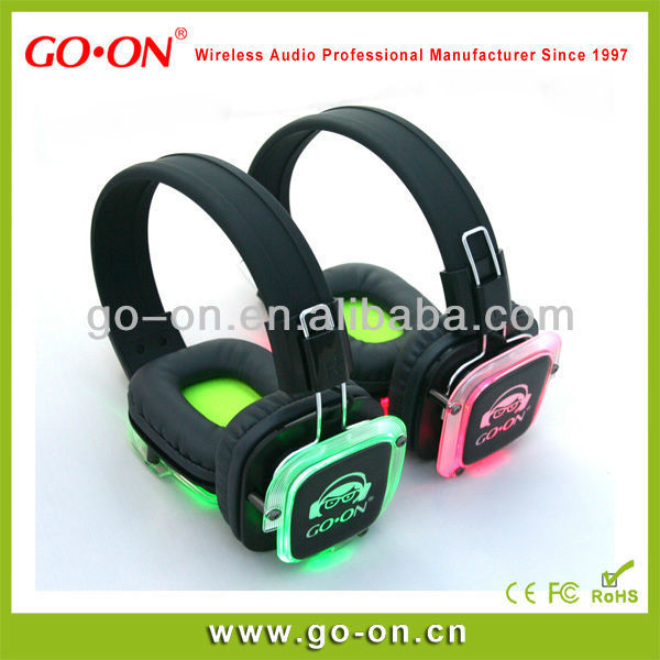 cheap price silent disco gaming headset dj silent party headphone
