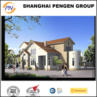 Cheap China prefab homes/steel structure villa house