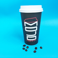 PE Coating Paper cup & Paper hot drinking cup 16oz with lid