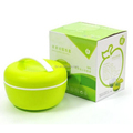 apple shaped double layer plastic lunch box with handle,lunch box