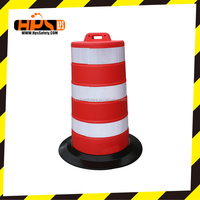 High quality plastic traffic warning barrel for roadway safety