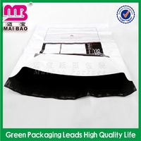 rectangle transparent white plastic poly mailer bag