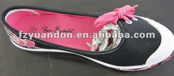 2013 hot selling Flat Canvas Shoes for lady