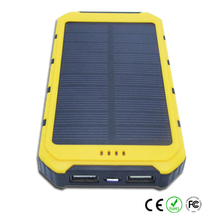Easy Carry-on Solar Power Bank 10000mah for outdoor travel