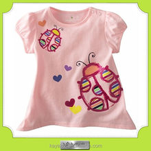 custom-made high quality fashion cotton baby girls t shirt