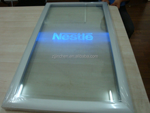 led light arcylic glass door with led light