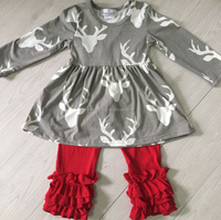 girls boutique clothing girls boutique deer outfit yiwu mayflower clothing factory children wear