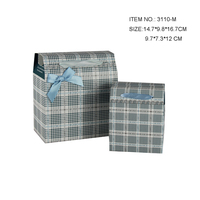 Checked bowite foldable paper gift box