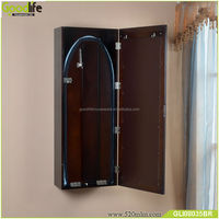 Wholesale goodlife wall mount wooden mirrored ironing table cabinet