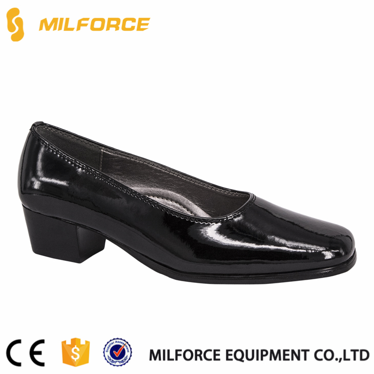 hot sale black high quality genuine leather ladies office shoes