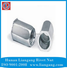 Low carbon steel M6 Hex blind rivet nut/rivet nut