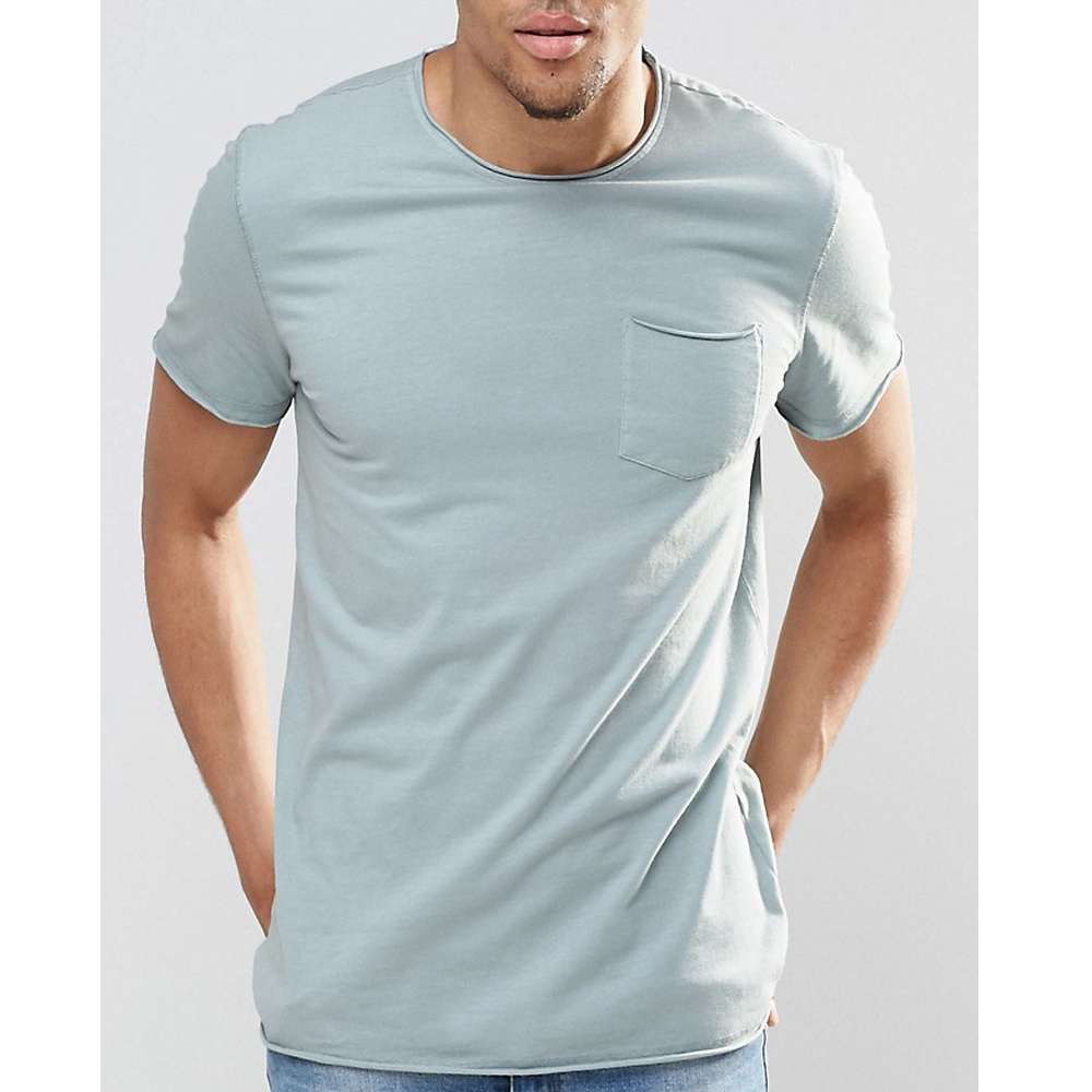 Blank Pocket T Shirt Wholesale Basic T Shirt Plain Round