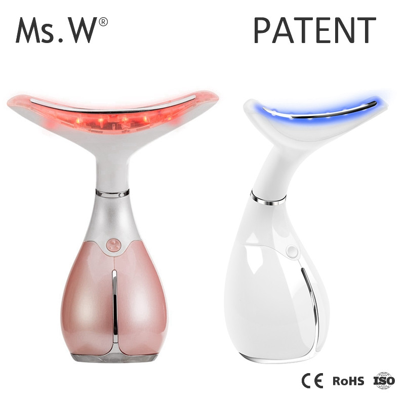 Beauty Device Neck&Face Wrinkle Removal Heat Massage Therapy Anti Aging Skin Care Product