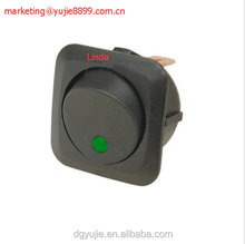 Round Green LED Light Rocker Toggle Switch 12V 25A Board ON OFF
