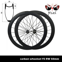 700C 50mm carbon lightweight wheels clincher, tubeless carbon road bike wheels lightweight wheels
