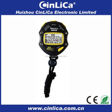 large two-line display lanyard stopwatch pedometer with brand stopwatch