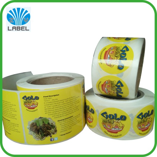 Self Adhesive & waterproof custom label sticker