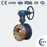Hot sale factory price ZFV hard seal wafer type eccentric semi handle ball valve