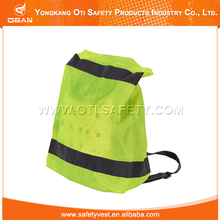 Reflective hi vis eco-friendly backpack rain cover