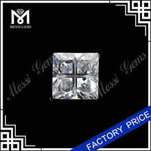 Square Shape 10x 10mm White Cubic Zirconia CZ Stone