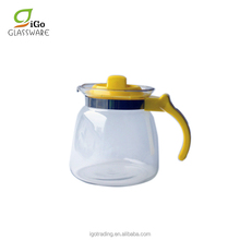 1800ML Colorful Commercial glass teapot coffee pot