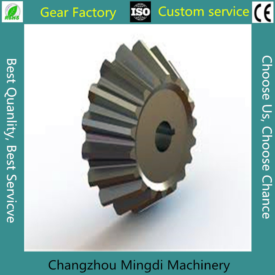 Custom non-standard metalic Conical straigt teeth hobbing bevel gears
