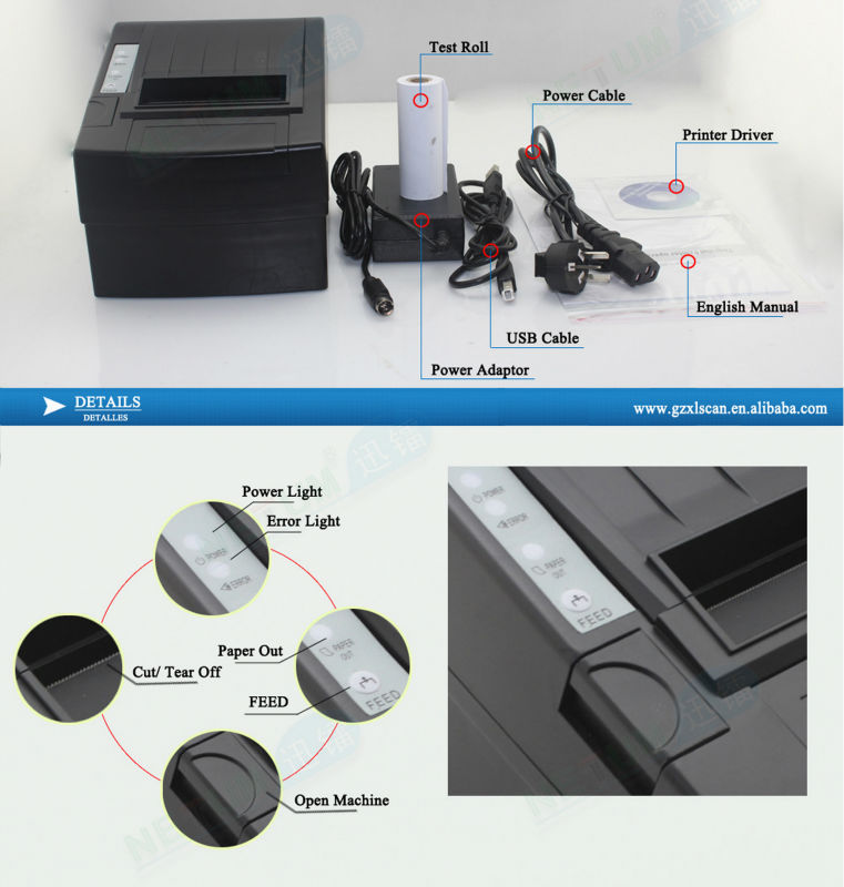 Nt-8220 Custom12V Thermal Printer Better Than Epson Thermal Printer