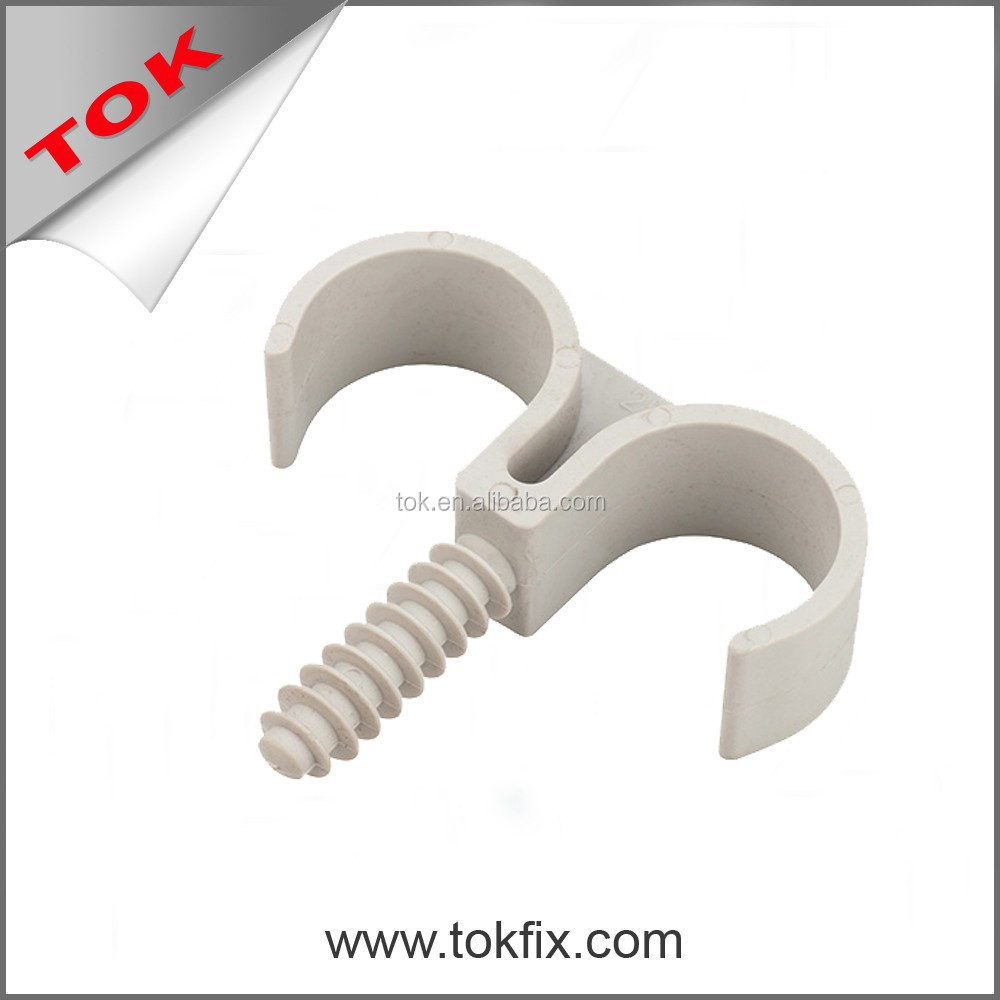 pipe clamps plastic cable clips