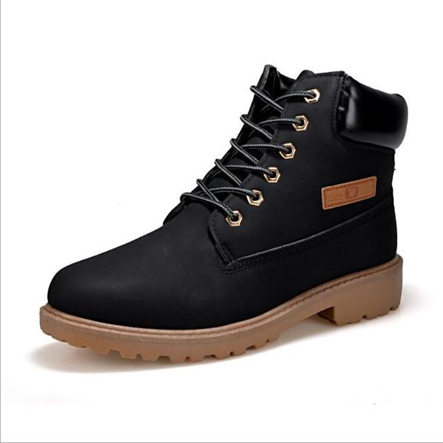 LM6014Q British Martin boots men lace-up leather shoes casual snow boots